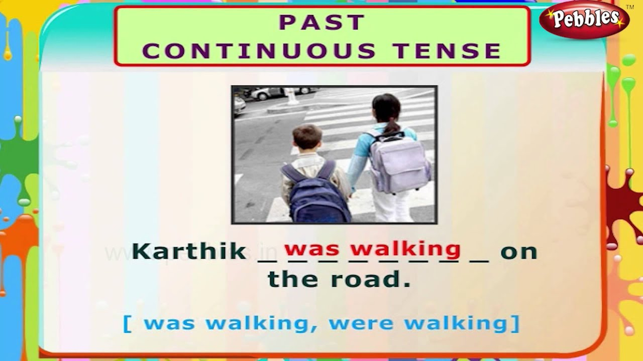 Past Continuous Tense English Grammar Exercises For Kids English