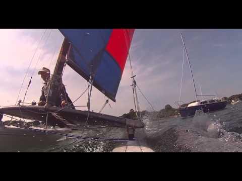 Heavy Wind Hobie Cat Sailing