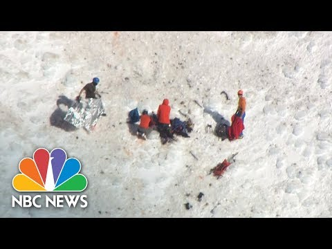Dramatic Helicopter Rescue Of Stranded Mount Hood Climbers | NBC News