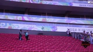 Briga entre torcidas no estádio Nacional Mané Garrincha