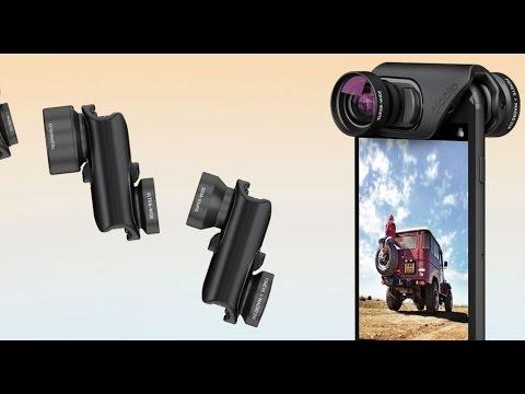 Telefon aksesuarları testte Shoulderpod, Olloclip lens ve iBlazr flash