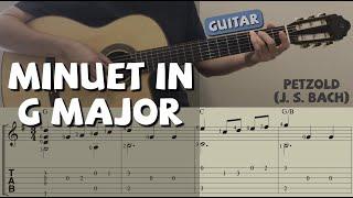 """Minuet in G major / Petzold [""""J.S. Bach""""] (Guitar)"""
