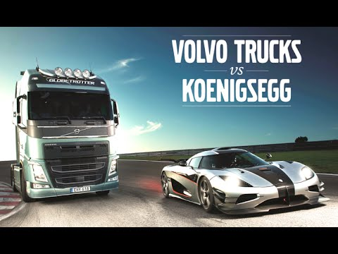 Volvo Truck Vs Koenigsegg One:1 New Volvo Truck Commercial 2014 Making Of - CARJAM TV 4K