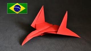 Origami: Avião Star Figther - Instruções em português PT BR