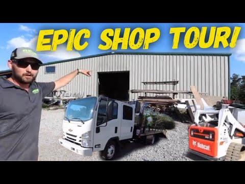 Million Dollar Lawn Care Company Shop Tour ► It's His Turf HQ!