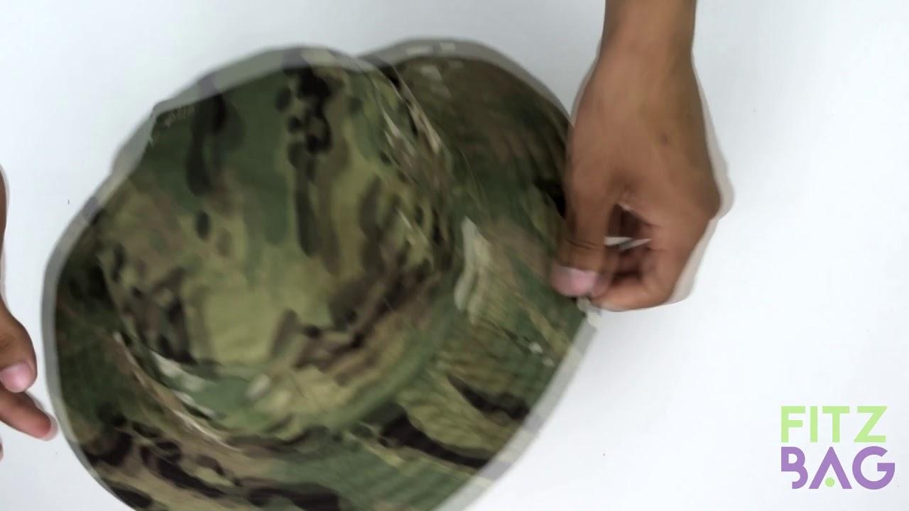 Chapéu Pescaria Camuflado Com Aba Protetora Caça Militar - YouTube dfb726dca90