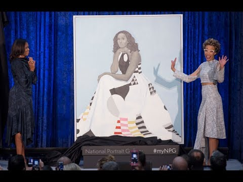 """Michelle Obama's """"expected, unexpected"""" Portrait"""