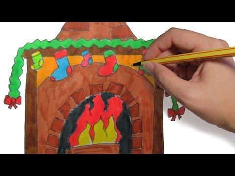 como-dibujar-una-chimenea-paso-a-paso:-dibujos-de-navidad-faciles-para-niños