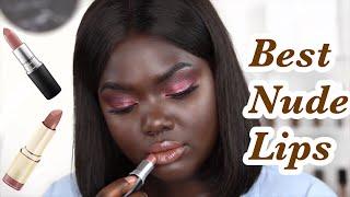 Best Nude Lipsticks Drugstore & High-end for Dark Skin || Nyma Tang