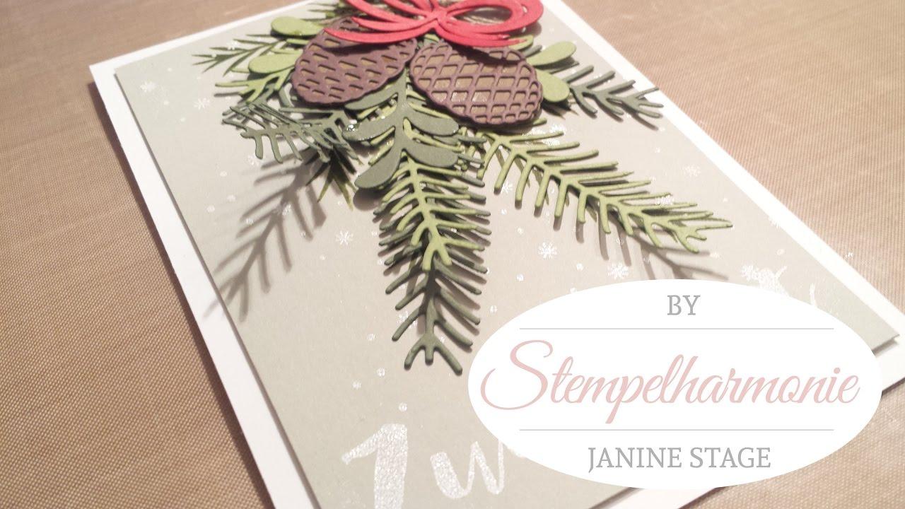 Weihnachtskarte tannen und zapfen stampin 39 up youtube - Interaktive weihnachtskarte ...