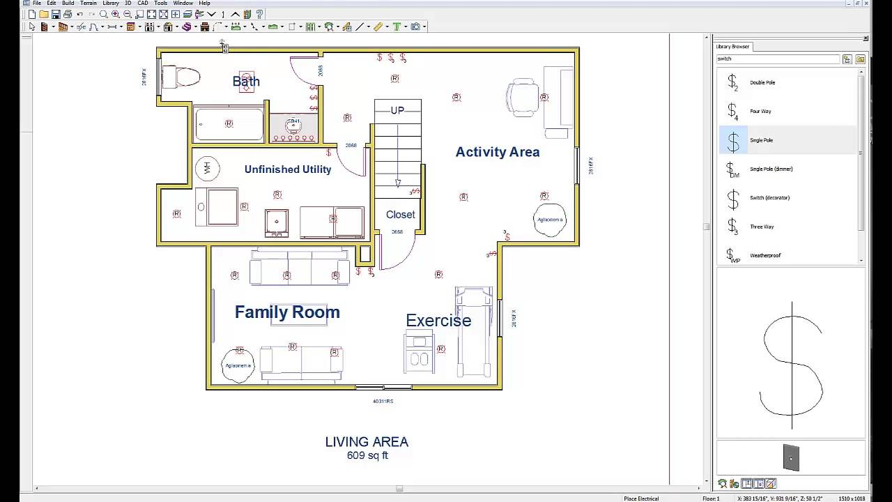 wiring your basement basement electric design plan youtubeExample Of House Wiring Diagram #18