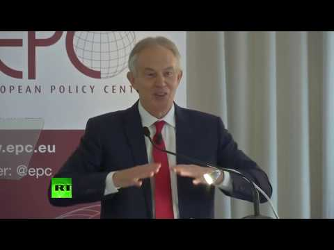 LIVE: Tony Blair talks about Britain's Brexit plans at the European Policy Centre