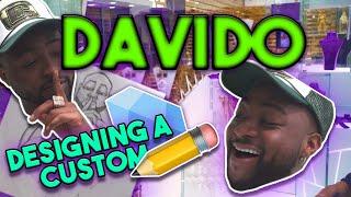 DAVIDO COMES TO ICEJEWLZ  DESIGNS CRAZY CUSTOM PENDANT  RING