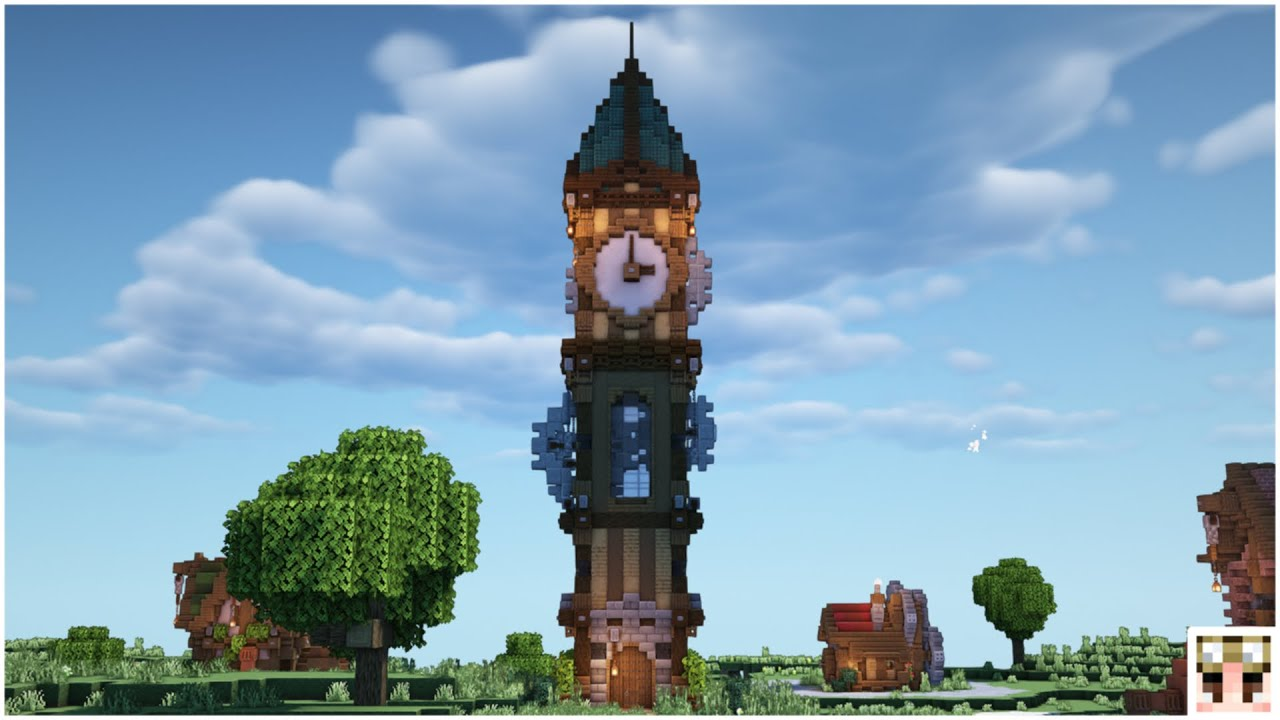 Steampunk Clocktower Minecraft Building Timelapse Youtube
