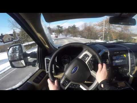 Driving the 2017 Ford Super Duty F350 - 6.7L Power Stroke Diesel POV!
