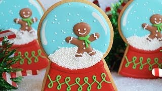 This snow globe cookie project is part of a collaboration with Elis...