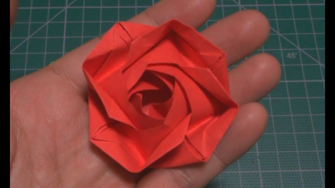 How To Make A Rose Origami Flower