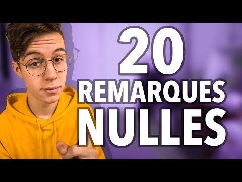 20 REMARQUES NULLES - Seb la Frite