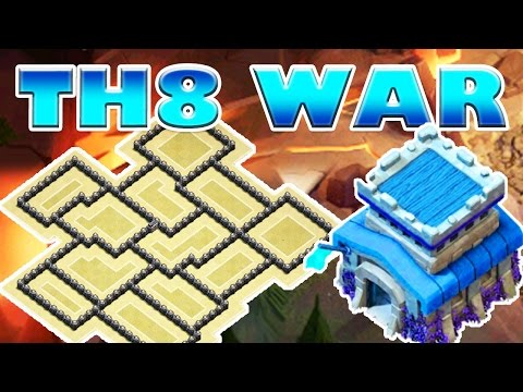 BEST TH8 WAR BASE OF 2016 with REPLAYS | Clash of Clans