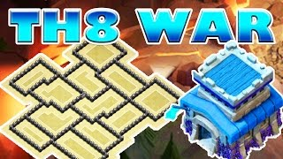 BEST TH8 WAR BASE OF 2016 with REPLAYS   Clash of Clans