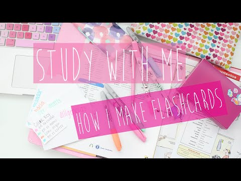 Study With Me: How I Make Flashcards♡
