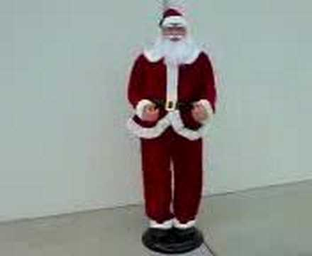 santa dancing and singing