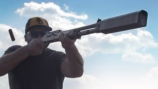 Shooting Clays in Slow Motion with the World's First* Shotgun Silencer