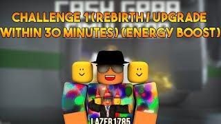 [Roblox] Cash Grab Simulator: CHALLENGE 1 (Rinascita / Upgrade entro 30 MINUTI) (Energy Boost)