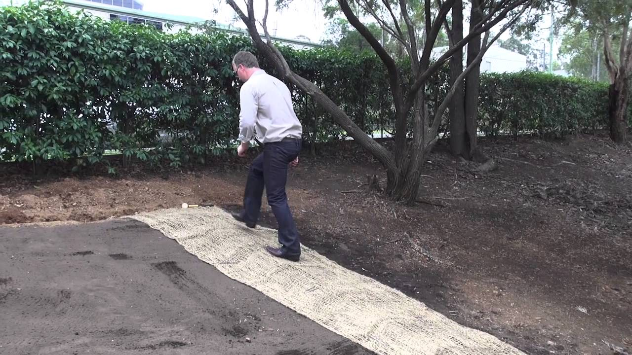 How To Install Jute Soil Saver Mesh By All Stake Supply