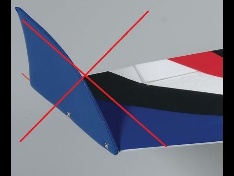 RC flying wing without vertical stabilizer