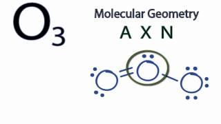 O3 Molecular Geometry / Shape and Bond Angles
