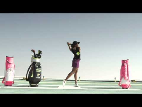Cheyenne Woods at Burj Al Arab, 2014 Omega Dubai Ladies Masters