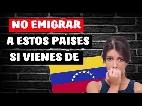 ✔Los 3 Peores Países para Emigrar desde Venezuela