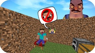 NOOB VS VECINO ASESINO CASA HELLO NEIGHBOR MINECRAFT TROLL + ROLEPLAY
