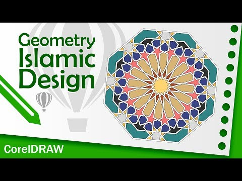 Geometric islamic design Tutorial 4 CorelDRAW