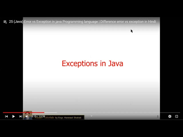 Java Programming Discussion  Lecture 17, 24, 25