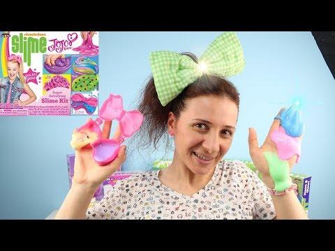 JOJO SİWA Slime Challenge Rainbow vs Jigly Slime Nickelodeon DIY JoJo Siwa SLIME Kit Bidünya Oyuncak