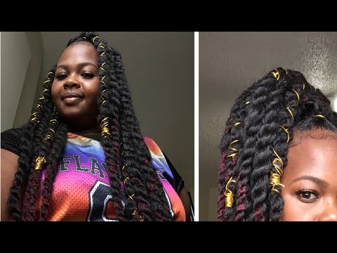 Jumbo Marley Hair Twist Rubberband Method Talkthrough Tutorial
