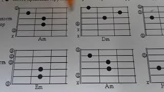 Разбор схемы аккордов для начинающих.