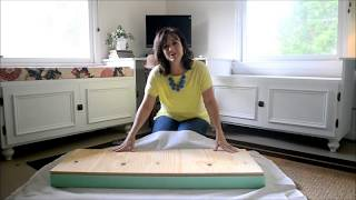 How to make a window seat cushion in 5 minutes or less!