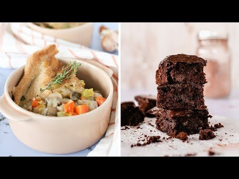 Healthy Comfort Food Recipes | Chocolate Brownies And Chicken Pot Pie