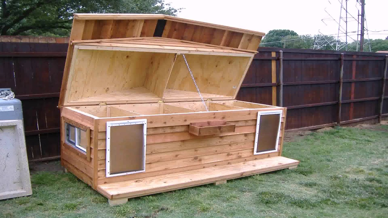 Diy Flat Roof Dog House Plans