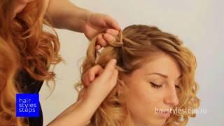 Асимметричная укладка на средние волосы