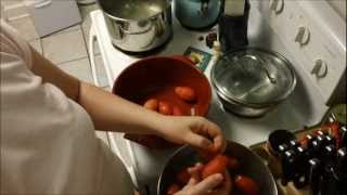 Making and Canning Spaghetti Sauce