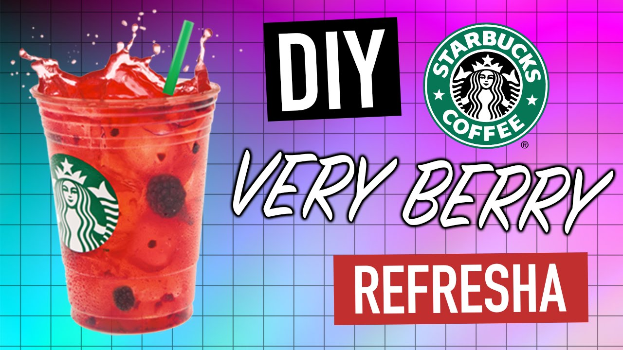 Diy Starbucks Very Berry Refresha Youtube