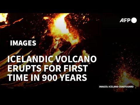 Lava flows out as Iceland volcano erupts near Reykjavik | AFP