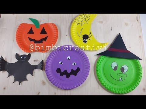 Halloween decorazioni con piatti di carta bimbi for Decorazioni di natale con la carta