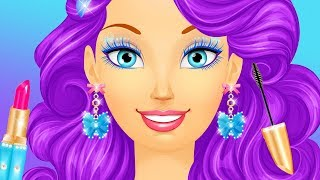 Cinderella Princess Makeup & Dress Up Beauty Spa Makeover Hair Colors & Style Kids Girls Games