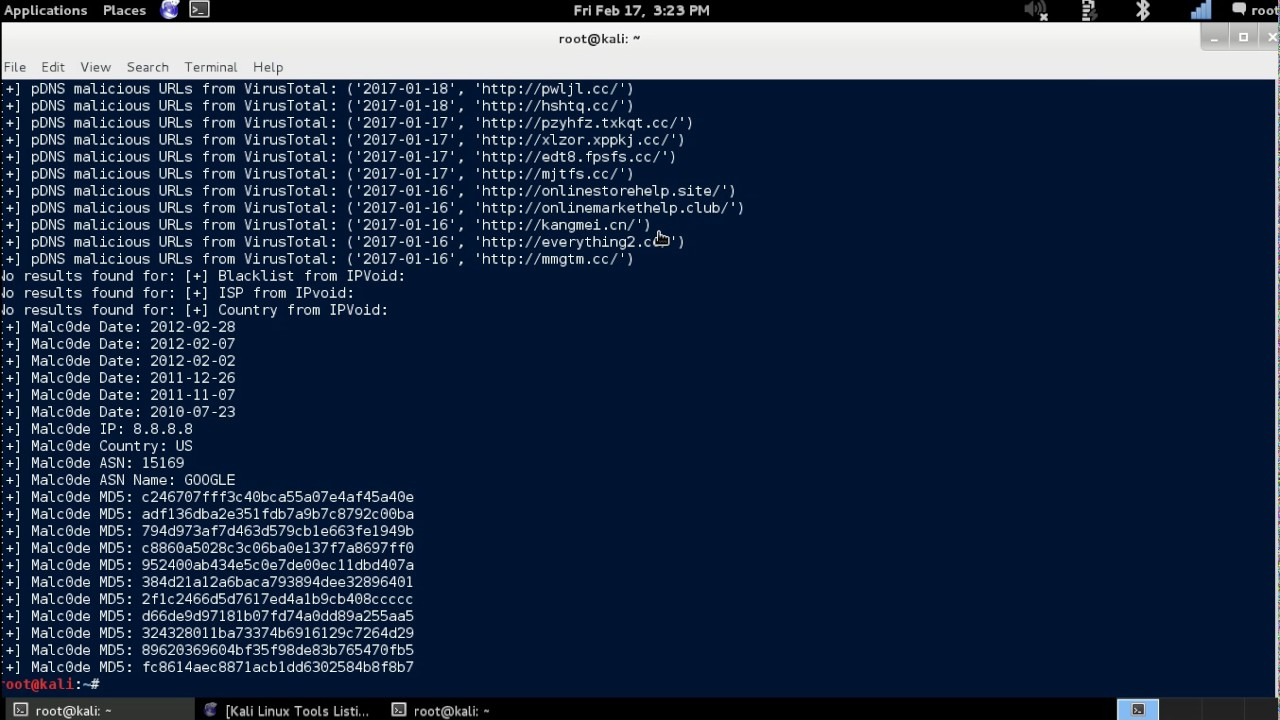 Automater - Open-source Intelligence Tool (OSINT) {Kali Linux} by  OrlandoPCRepair