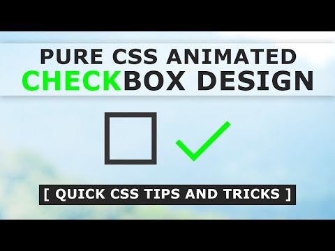Pure CSS Animated Checkbox Design - How To Make Custom Checkbox In Html And CSS - Tutorial